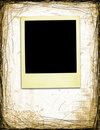 Aged Polaroid On Grunge Background Royalty Free Stock Photo