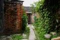Aged red brick dwelling houses chengdu china Royalty Free Stock Images