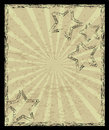 Aged vintage background with stars and rays Royalty Free Stock Photography