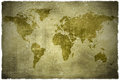 Aged  vintage world map Royalty Free Stock Photography