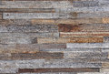 Aged Weather Wooden Paneling Boards on Exterior Wall Background Royalty Free Stock Photo
