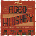 Aged Whiskey Vintage Label Poster