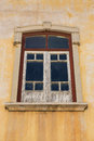 Aged window with peeling paint. Royalty Free Stock Photo
