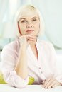 Aged woman Stock Photos