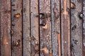Aged Wood Door Planks Royalty Free Stock Photography