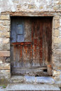 Aged wood doors weathered vintage Royalty Free Stock Photography