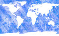 Aged world map Royalty Free Stock Photo