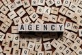 stock image of  Agency word concept