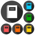 Agend design, Phone agend icons set with long shadow