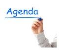 Agenda Stock Photography