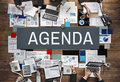 Agenda Analysis Information Documents Concept Royalty Free Stock Photo