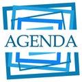 Agenda Blue Random Borders