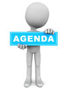 Agenda business meeting concept banner in blue over white background Royalty Free Stock Images