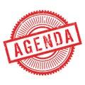 Agenda stamp rubber grunge Royalty Free Stock Photo