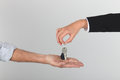 Agent handing over keys to a new home Stock Photography