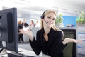 Agent woman de callcenter Photographie stock