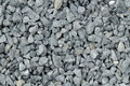 Aggregate / gravel pattern - a heap of coarse gray stones, crushed at a stone pit Royalty Free Stock Photo