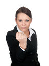 Aggressive businesswoman Stock Photography