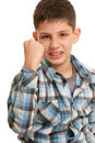 Aggressive kid Royalty Free Stock Photo