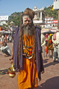 Aghori Sage at Haridwar, India Royalty Free Stock Photography