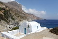 Agia anna on amorgos island greece chapel of Royalty Free Stock Images