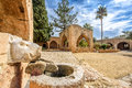 Agia Napa monastery boars head fountain in Cyprus 2 Royalty Free Stock Photo