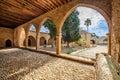 Agia Napa monastery courtyard arches in Cyprus 7