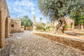 Agia Napa monastery courtyard  in Cyprus 1 Royalty Free Stock Photo