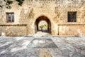 Agia Napa monastery courtyard entrance in Cyprus Royalty Free Stock Photo