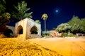 Agia napa napa monastery at night famagusta district cyprus Stock Photography