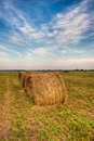 Agiculture scene nature hay Royalty Free Stock Photo