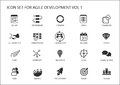 Agile software development icon set