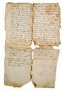 Aging manuscript on slavonic language Stock Images