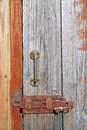 Aging wooden door Stock Photography