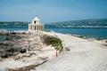 Agion theodoron lighthouse fanari near argostoli greece the was originally built in during the british Royalty Free Stock Images