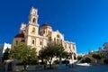 The Agios Minas Cathedral. Heraklion city on the island of Crete, Greece. Royalty Free Stock Photo