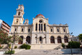 The Agios Minas Cathedral in Heraklion on the Crete island in Greece. Royalty Free Stock Photo