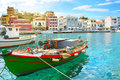 Agios nikolaos boat on crete Royalty Free Stock Image