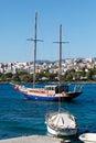 Agios nikolaos city crete greece and voulismeni lake Stock Images