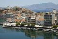 Agios nikolaos crete island view over greece Royalty Free Stock Photography