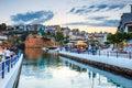 Agios Nikolaos town at summer evening. Agios Nikolaos is one of the most touristic
