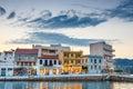 Agios Nikolaos town at summer evening.