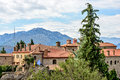 Agios stephanos monastery at meteora in greece on top of the rocks Royalty Free Stock Images