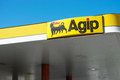 Agip sign ontop of an gas station Royalty Free Stock Photography