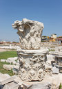 Agora columns corinthian capital capitals in ancient smirna izmir turkey Royalty Free Stock Photo