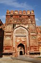 Agra fort agra uttar pradesh india entrance gate of a Stock Images