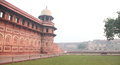Agra fort india outer wall of red Stock Images