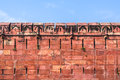 The agra fort walls and battlements of built by mughals in indian state of uttar pradhesh Royalty Free Stock Image