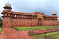 Agra red fort uttar pradesh india imposing and majestic is a unesco world heritage site in it is about km northwest of its more Stock Photo