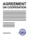 Agreement on cooperation white paper Royalty Free Stock Photo